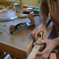 Pete using handtools