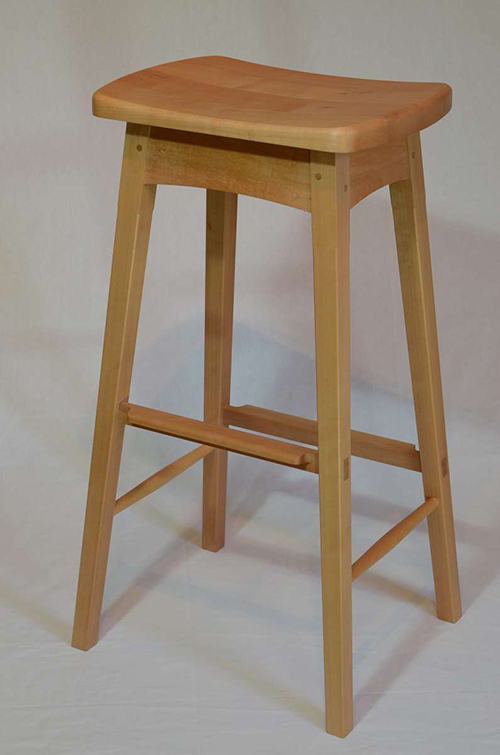 Kitchen dining wooden stool