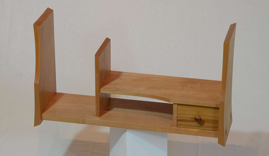 Wooden Japanese dsplay shelf