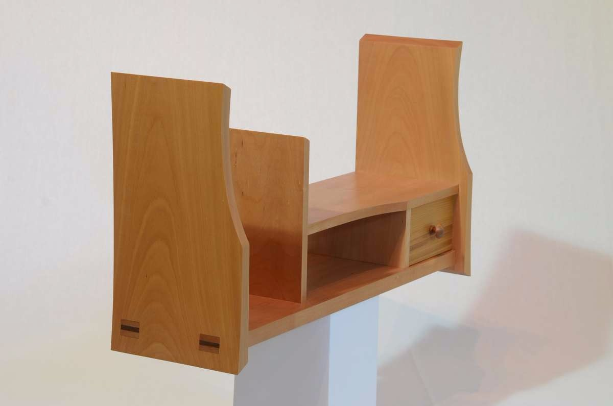 Wooden Japanese display shelf